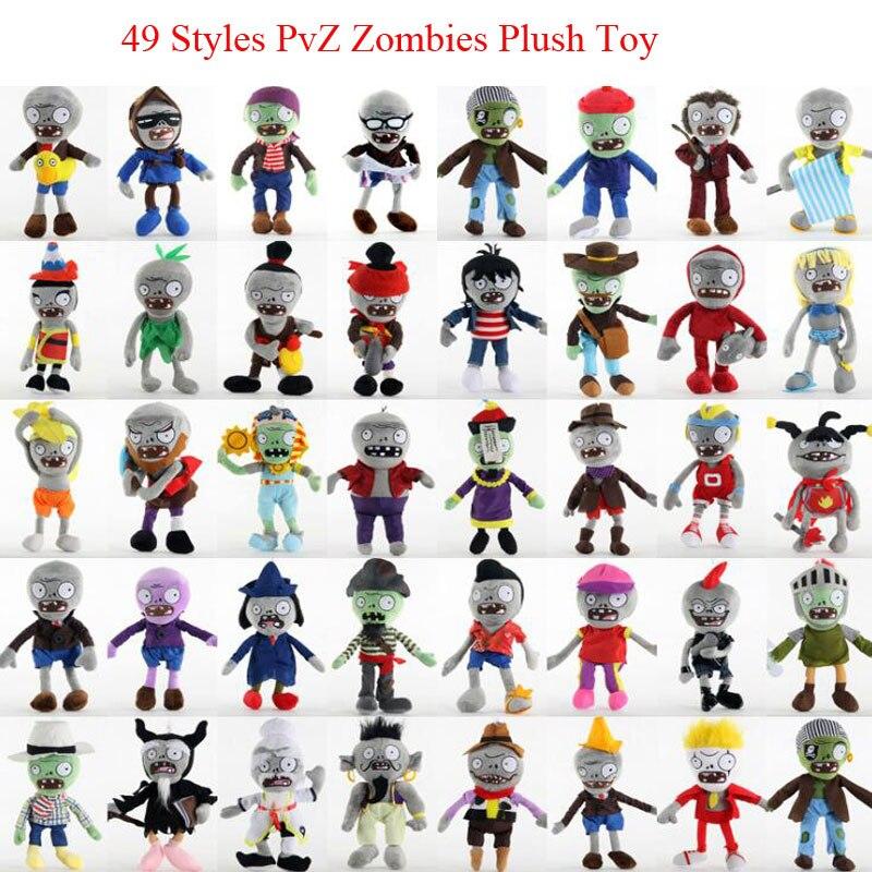 Плюшевые игрушки PVZ «Растения против Зомби», спортивные мягкие игрушки для косплея, детская игрушка, 49 видов, 30 см