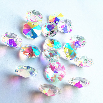 Top Quality 14mm AB Color 1000pcs Crystal octagon beads, chandelier parts pendant, Garland Strand  pendant parts