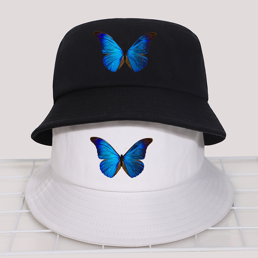 Панама с бабочкой и Бобом, летние мужские и женские шляпы в рыбацком стиле, шляпа от солнца, хлопковая Корейская Черная кепка, уличная солнцезащитная Кепка Gorras