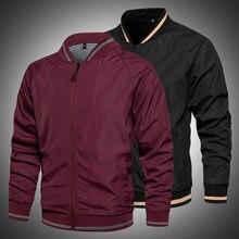 2021 novos homens blusão jaqueta casual primavera outono outerwear casaco com zíper jaquetas respirável fino masculino outfits