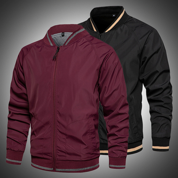Casual Men Bomber Jacket Spring Autumn Outerwear Zipper Coat 2021 New Men Windbreaker Jackets Breathable Thin Male Outfits