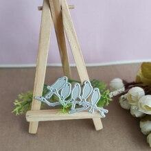 Bird clipboard mould on the branch bird cutting mold DIY paper card craft metal flower tree