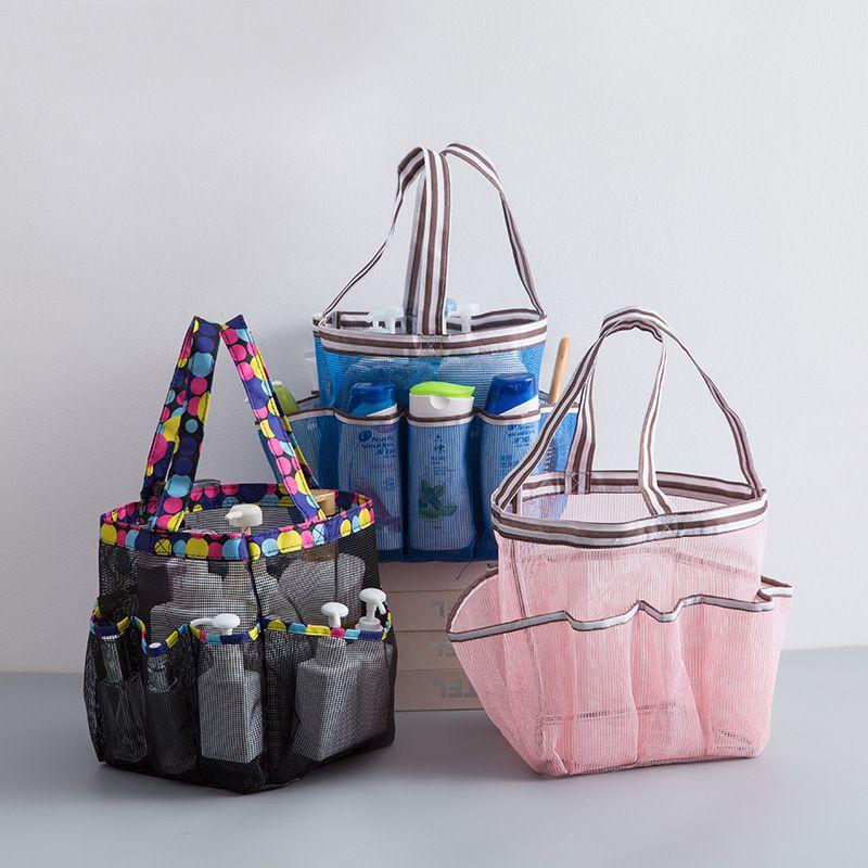 Washing Bag Multi-function Mesh Portable Swimming Bag Grid Drain Washing Supplies Storage Bag N06