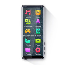 HD MP4 Player Bluetooth Video Play Built In Speaker Full Touch Screen Portable Color Display USB Charging HIFI Music Card Insert