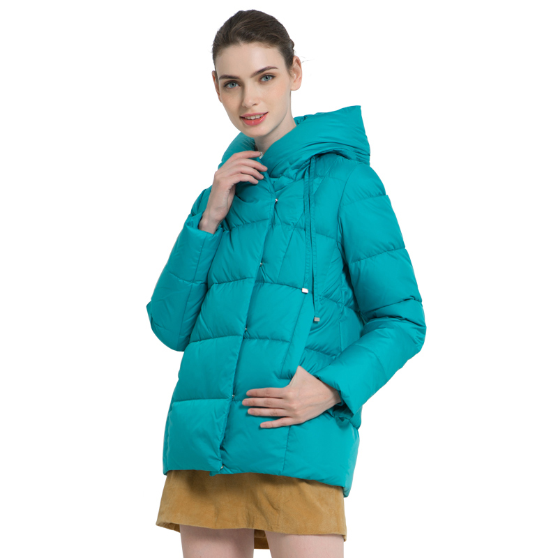 ICEbear 2019 New Winter Women's Coat High Quality Brand Clothing Casual Woman Winter Jacket Hooded Female Parkas GWD19011I icebear 2018 new high quality winter coat women hooded windproof jacket long women s clothing high grade metal zipper gwd18101d