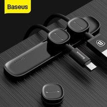 Cabo baseus organizador cabo magnético gestão de cabos usb titular silicione flexível desktop clipes para mouse wire organizer