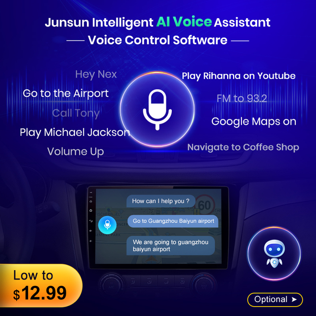 Junsun V1 Android 10.0 AI Voice Control Car Radio Multimedia Player For Suzuki Swift 2005 2006 2007 2008-2010 Navigation 2 Din