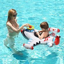 Baby Swimming Ring Kids Inflatable PVC Swim Circle Cartoon Airplane Floating Pool Accessories Toys Outdoor Toddler K2002 Sports