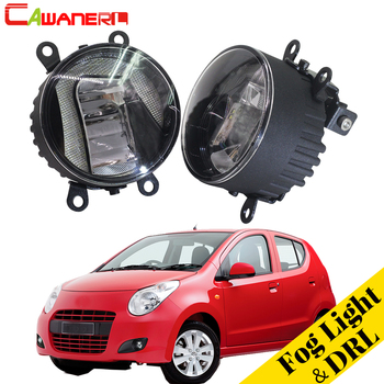 Cawanerl For Suzuki Alto V GF Hatchback 2009-2015 Car Accessories LED Fog Light Daytime Running Lamp DRL High Bright 2 Pieces