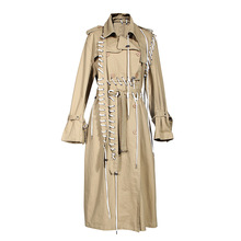 HIGH STREET 2020 Fall Winter Designer Trench Womens Rope Lacing Stylish Trench Coat