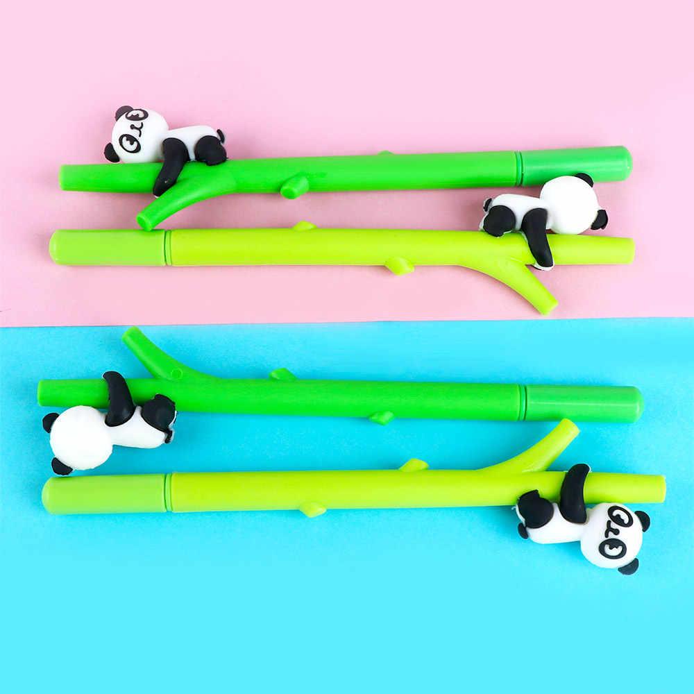 1pcs Bonito Panda Bambu Verde Canetas Gel 0.5 milímetros de Tinta Preta artigos de Papelaria Escritório de Negócios Escrita Suprimentos Chancelaria para a Escola estudantes