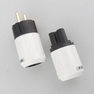 Image 5 - Adaptateur de prise de courant Schuko plaqué or 24 K haut de gamme Audiocrast de Type Schuko pour lallemagne, la France, leurope, la russie