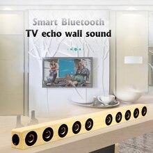 HiFi Съемный беспроводной 40 Вт деревянный Bluetooth Саундбар стереодинамики домашний кинотеатр тв сабвуфер Музыка Поддержка RCA AUX оптический