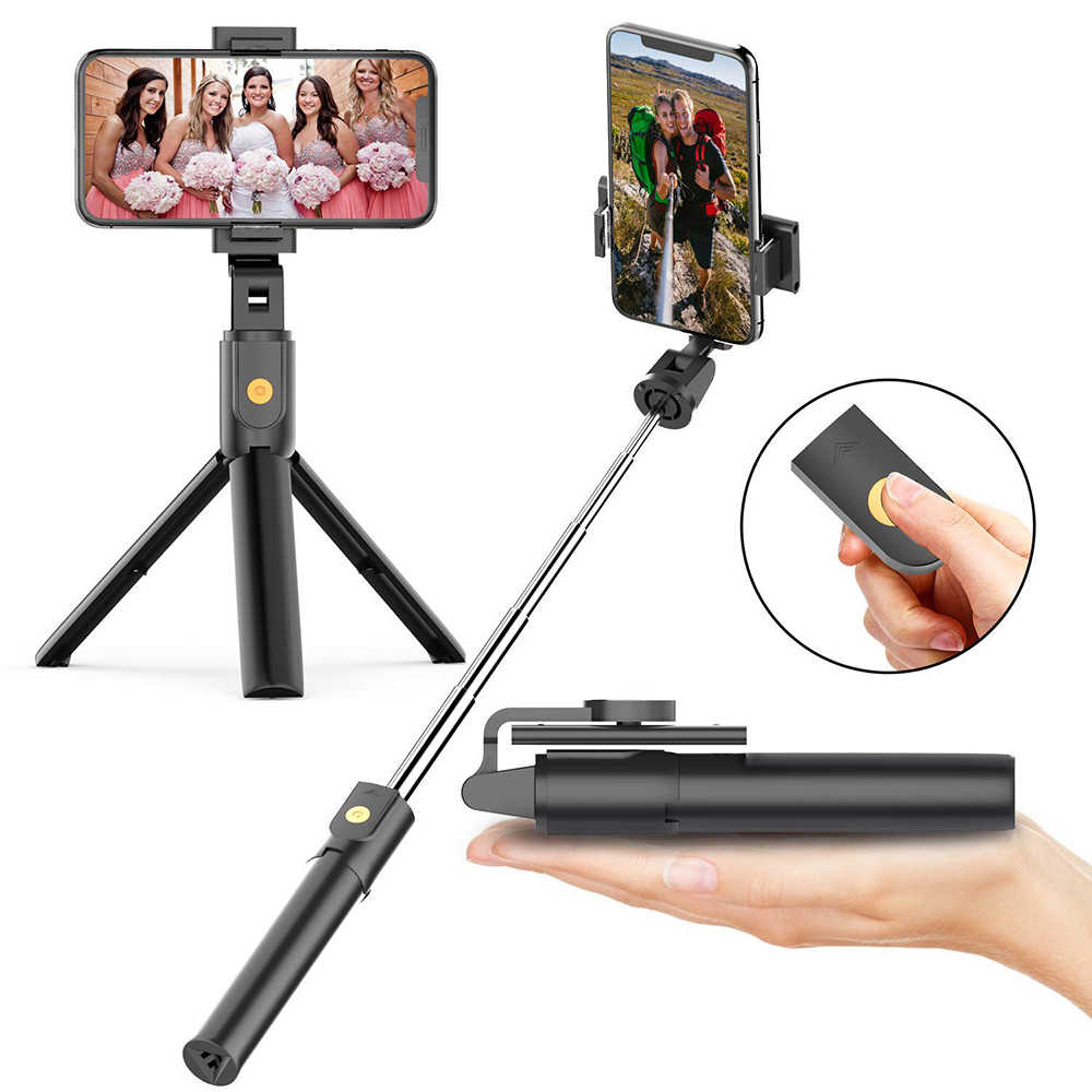 Selfie Stick trípode soporte extensible con Bluetooth remoto para Iphone XR 8 7 6 6S Plus Samsung Xiaomi huawei Android IOS