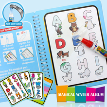Kids Reusable Magic Graffiti Water Picture Book Kid Early Learning Coloring Album Baby