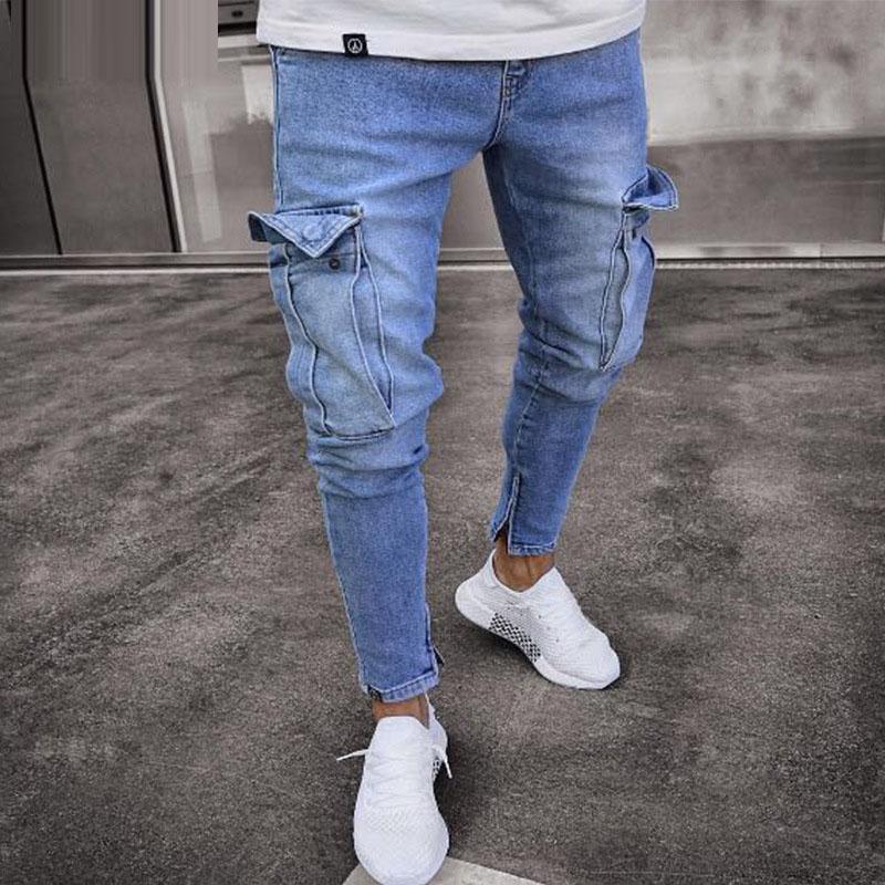2020 New Men's Distressed Skinny Jeans Men Designer Mens Slim Rock Revival Jeans Straight Hip Hop Men's Streetwear Jeans LF806
