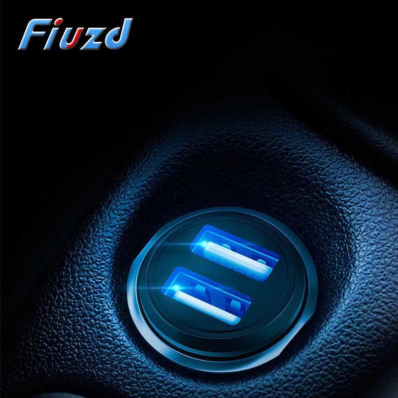 Fiuzd Universal โลหะ 3.1A Dual USB Car Charger สำหรับ BASEUS Fast Charger สำหรับ iPhone สำหรับ Ugreen