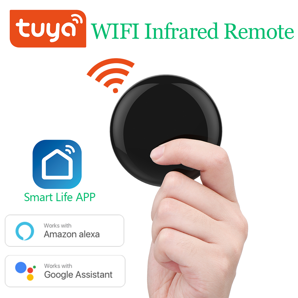 Tuya Mini WiFi Smart IR Remote 360° 10m Controller with Alexa Google Assistant, For TV Air Conditioning Appliances Voice Control
