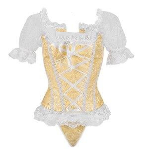 Image 3 - Corset Vintage à la taille pour femme, Corset à bretelles, amincissant, combinaison de fête et Club, Steampunk, Corset, haut Bustier