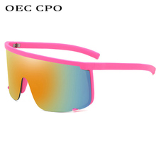 OEC CPO New Sunglasses Man Oversize Shield Half Frame