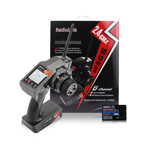 RadioLink RC6GS V2 2.4G 6CH RC Car Controller Transmitter With R6FG R7FG Gyro Inside Receiver for RC Car Boat (400m Distance)(China)