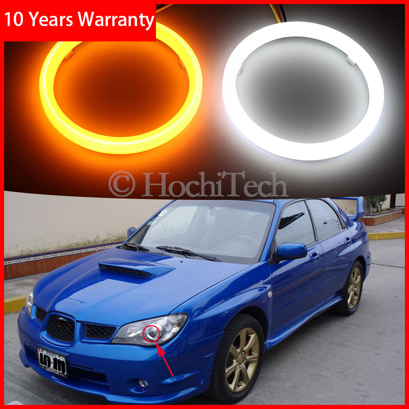 For Subaru Impreza 2006 2007 Cotton Switchback LED Dual Color Angel Eye White Amber Turn Signal Light