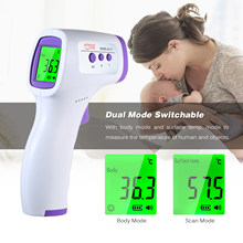 Digital Infrared Forehead LCD IR temperature Gun Handheld Non-contact IR Infrared Temperature Meter with Fever Alarm(China)