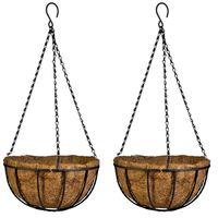 Eleg pendurado cesta para plantas jardim plantador de flores com corrente planta pote casa varanda decoração 2 pcs 8 polegada|Vasos e agricultores| |  -