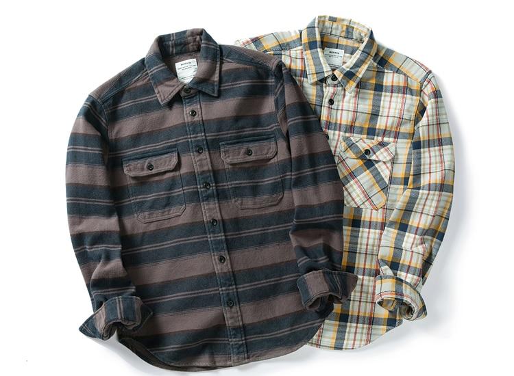 H035ca8d8288d4653b33e48e341ba35few 100% cotton heavy weight retro vintage classic red black spring autumn winter long sleeve plaid shirt for men women