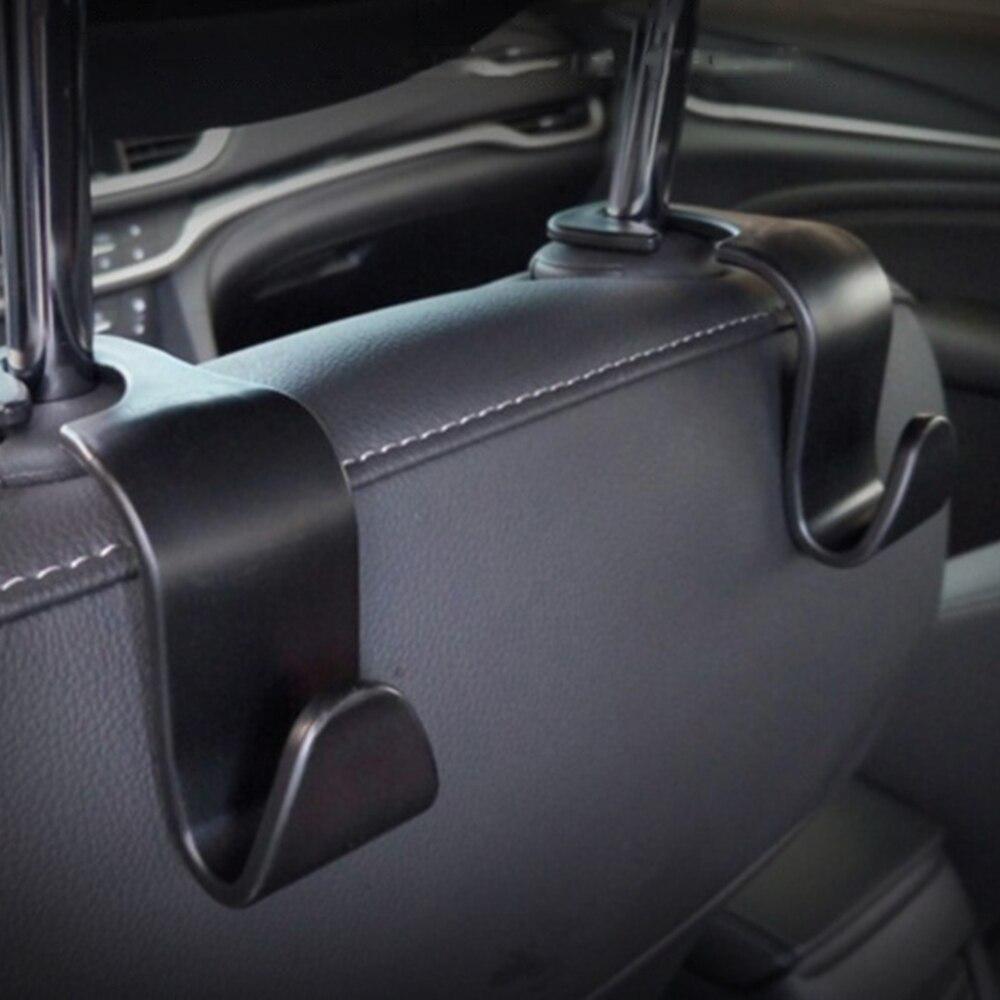 Gancho traseiro universal para assento de carro, acessórios automotivos, armazenamento portátil, 2020 1/2/4 peças pano de bolsa do carro