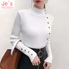 Winter-Knitted-Turtleneck-Women-Button-Solid-Sweaters-And-Pullovers-Long-Sleeve-Korean-Sueter-Mujer-Tops-Casual