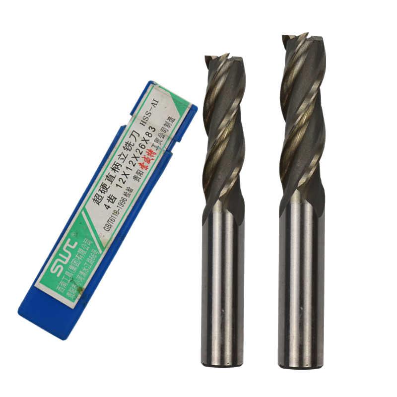 20mm Cutting Dia 4 Twist Flute HSS Flat End Drill Mill Cutter Tool