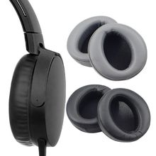 1Pair Protein Leather Earpads Ear Cushion Cover for Sony MDR-XB950AP XB950n XB950B1 Wired Headphones Headset samson professional z35 closed back studio headphones high protein leather comfortable over ear studio monitor headphones