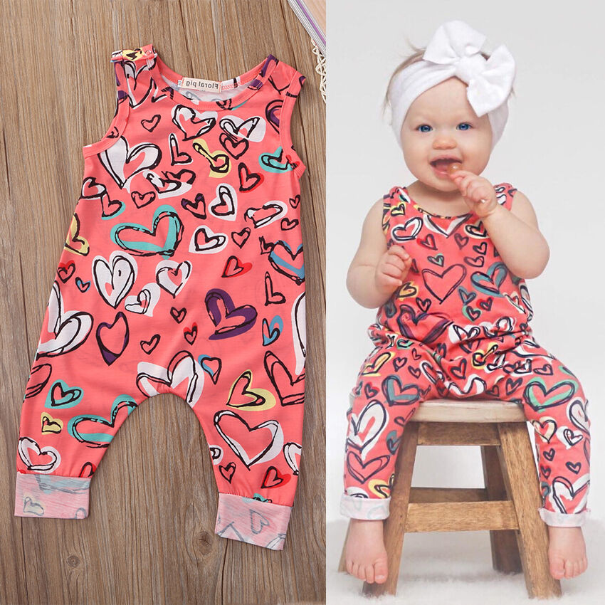 Girl Jumpsuits 0 24M Newborn Infant Baby Girl Outfit Clothes Romper Jumpsuit Floral