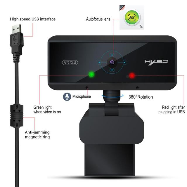 USB Webcam HD 1080P Built-in Microphone Auto Focus High-end Video Call Computer Peripheral Web Camera for PC Laptop 5