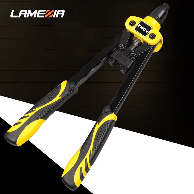 LAMEZIA Industrial-grade Small Rivet Gun Household Hand Riveters Nail Pulling Grab NailPulling Pliers Labor-saving Tool