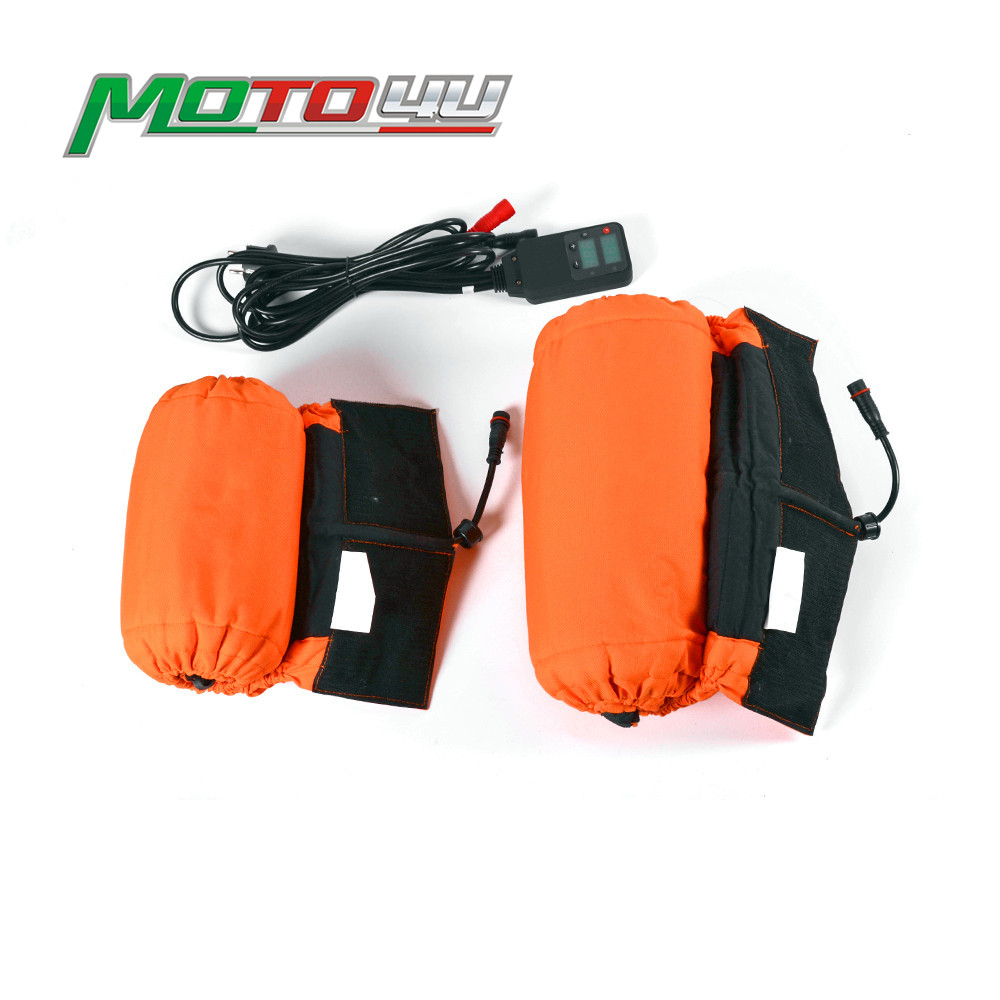 110/140 New Digital Tire Warmer Motorcycle Tyre Warmer Wheel 110 Front And 140 Rear Set Front&Rear Racing Orange