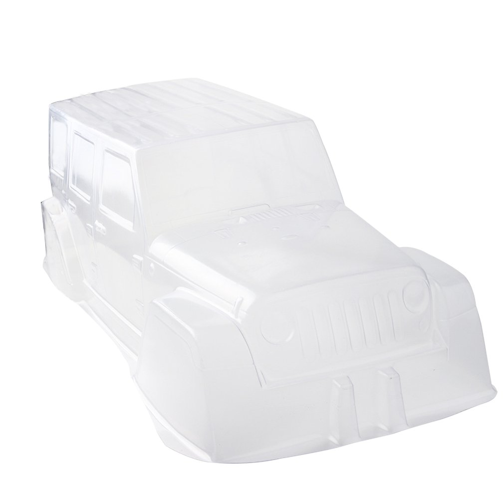 PVC Climbing Car Hard Plastic Transparent Body Shell 313mm Wielbasis Axiale SCX10 Soft Shell For 1:10 RC Crawler Car D90