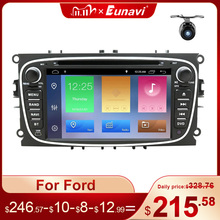Eunavi 2 Din Android 10 Car Radio dvd for Ford focus 2 Mondeo S MAX C MAX Galaxy Transit Tourneo stereo GPS Navigation DSP WIFI