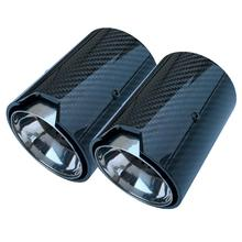 1PCS Real Carbon Fiber Exhaust Pipe Muffler tip For BMW M Performance exhaust pipe M2 F87 M3 F80 M4 F82 F83 M5 F10 M6 F12 F13