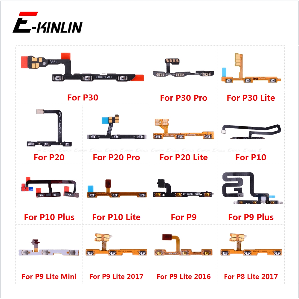 Power ON OFF Mute Switch Control Key Volume Button Flex Cable For HuaWei P30 P20 Pro P10 P9 Plus Mini P8 Lite 2017