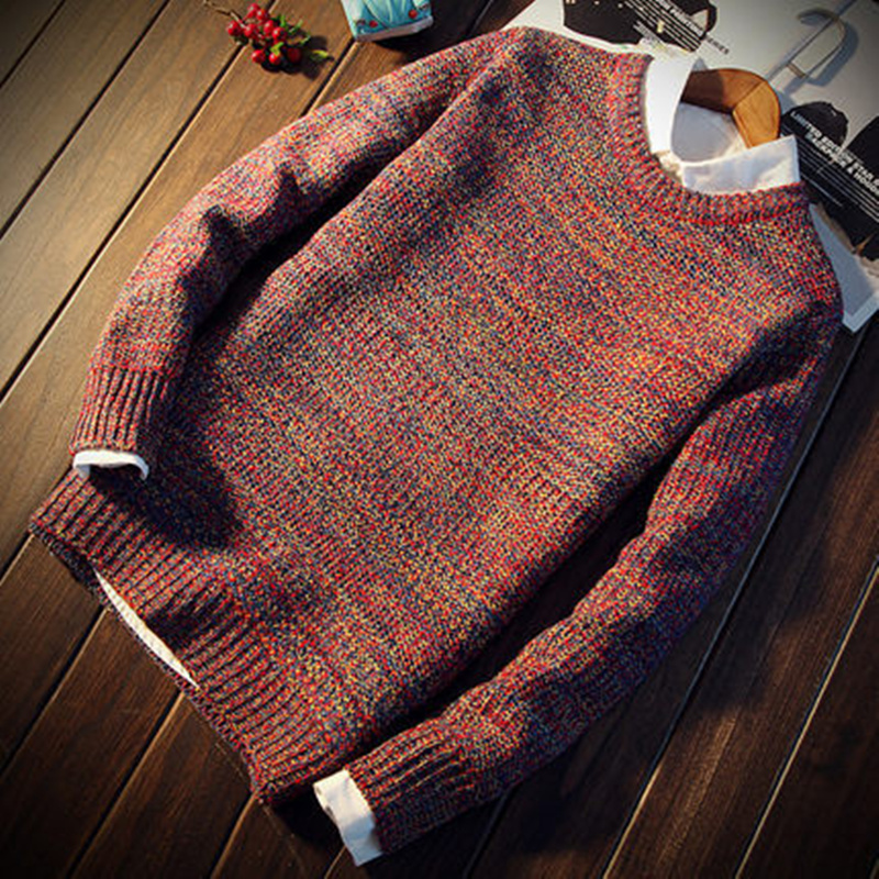2019 New Fashion Men Christmas Sweater Casual Slim Fit Male Clothing Long Sleeve Knitted Pullovers Winter Thick Sweater S-3XL