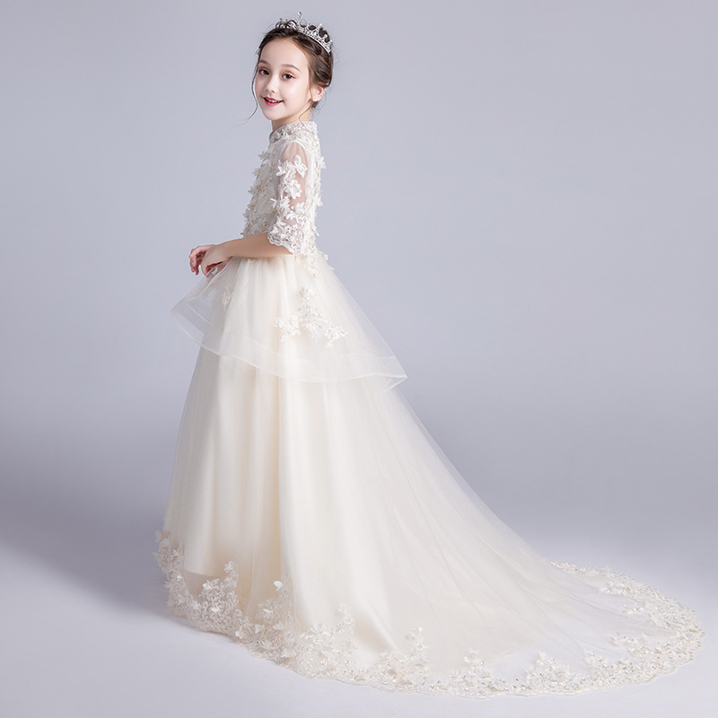 CHILDREN'S Dress Princess Dress Girls Wedding Dress Flower Boys/Flower Girls Late Formal Dress Host Catwalks GIRL'S Tailing Pian
