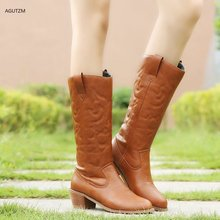 AGUTZM 2019 Slim Martin Boots Sexy Over The Knee High  Women Snow Womens Fashion Winter Thigh Shoes Woman z216