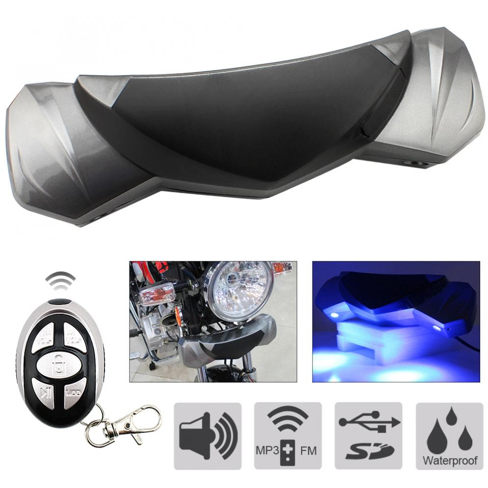 MT482 Waterproof Anti-theft MP3 Speaker Support USB / TF Card For Motorcycle
