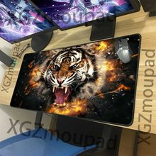 XGZ Animal Amur Tiger Pattern HD Custom Large Gaming Mouse Pad Black Lock Edge Computer Table Mat Speed Rubber Non-slip Xxl(China)