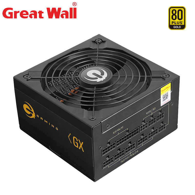 Grote Muur Atx Voeding 850W Voor Computer Psu 140Mm Fan Rustige 12V E-Sport Power bron Pcb 80 Plus Goud Pc Voeding