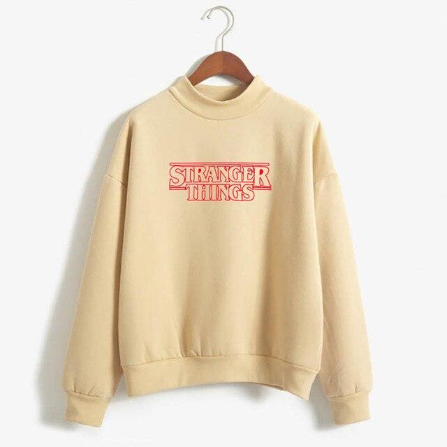 Stranger Things Official Television Series Men's Solid Logo Sweatshirt  Unisex STRANGER THINGS Hoodie - Stranger Things 2