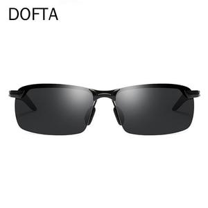 Image 2 - Doftaフォトクロミックサングラス男性偏光変色太陽男性リムレス正方形車を駆動するためのサングラスシェード