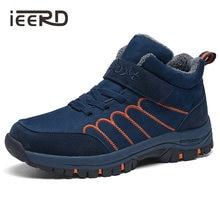 Мужские ботинки ieerd большого размера зимняя обувь для мужчин
